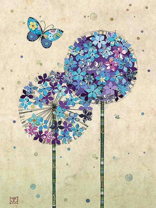 Butterfly on Allium card