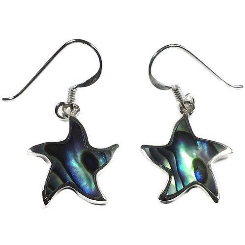 Silver abalone starfish drops