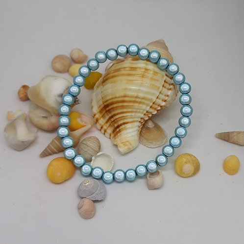Pale blue miracle bead bracelet