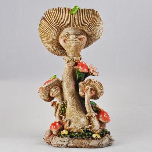 """Garden ornament: Mushroom Family """"The Brents"""""""