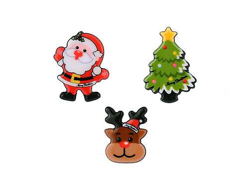 Christmas badges, set of 3