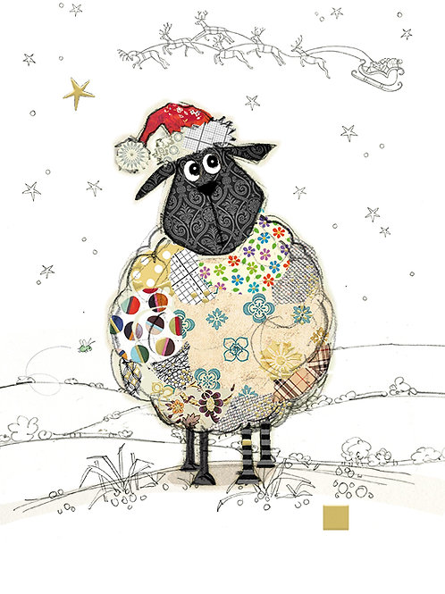 Santa Sheep Christmas card