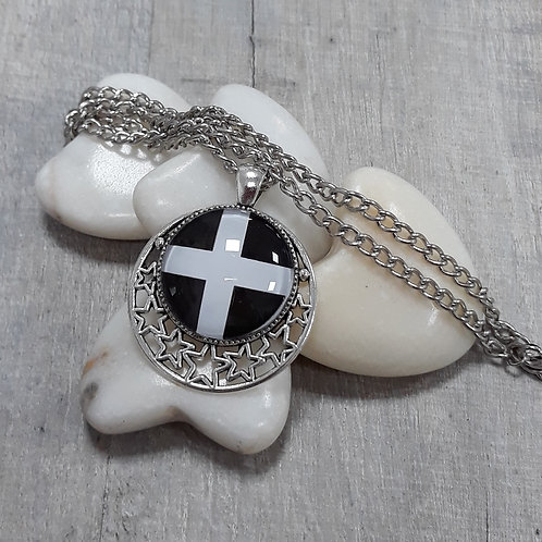 Cornish flag necklace with stars