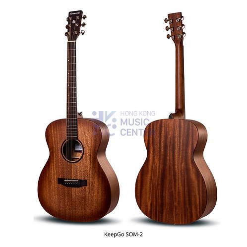 SOM-2 Orchestra Model Solid Top Acoustic Guitar | 單板OM桶木結他