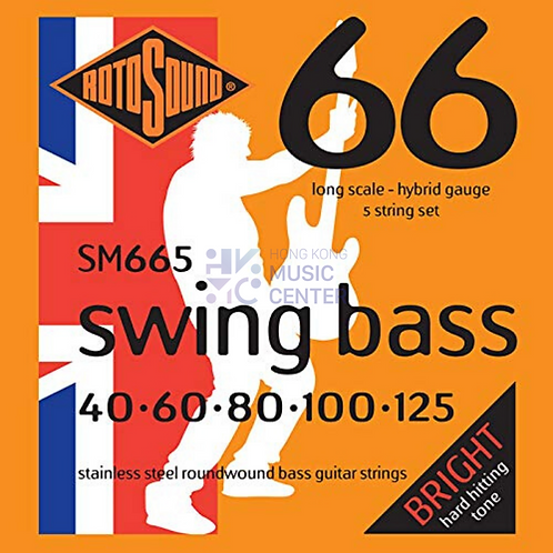 Swing Bass 66 (5 Strings Stainless Steel Bass Guitar Strings) | 5線不銹鋼低音結他弦線