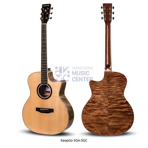 SGA-5GC Grand Auditorium Solid Top Acoustic Guitar   單板GA桶缺角木結他
