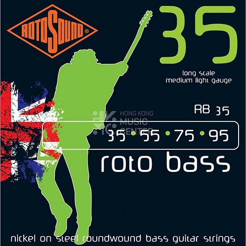 Roto (Nickel on Steel) Bass Strings   鍍鎳鋼低音結他弦線