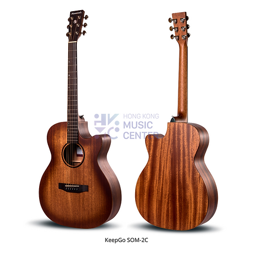 SOM-2C Orchestra Model Solid Top Acoustic Guitar | 單板OM桶缺角木結他
