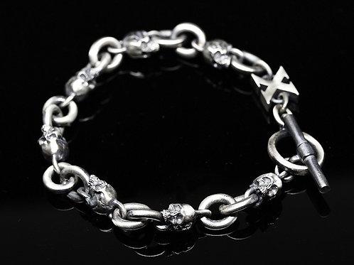Double Link Skull Bracelet