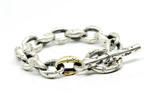 "Round ""Erosis"" Bracelet + brass link"