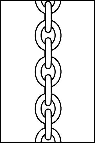 Bracciale con catena maglia grande, moschettone e piccolo quadrifoglio