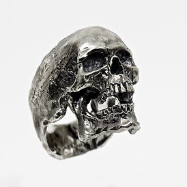 Anello teschio Skull ring Vintage decem