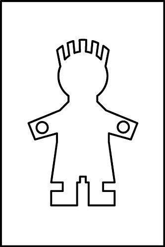 Maschio (o Papà) cm.3