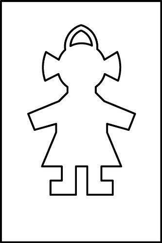 Femmina pendente cm.3