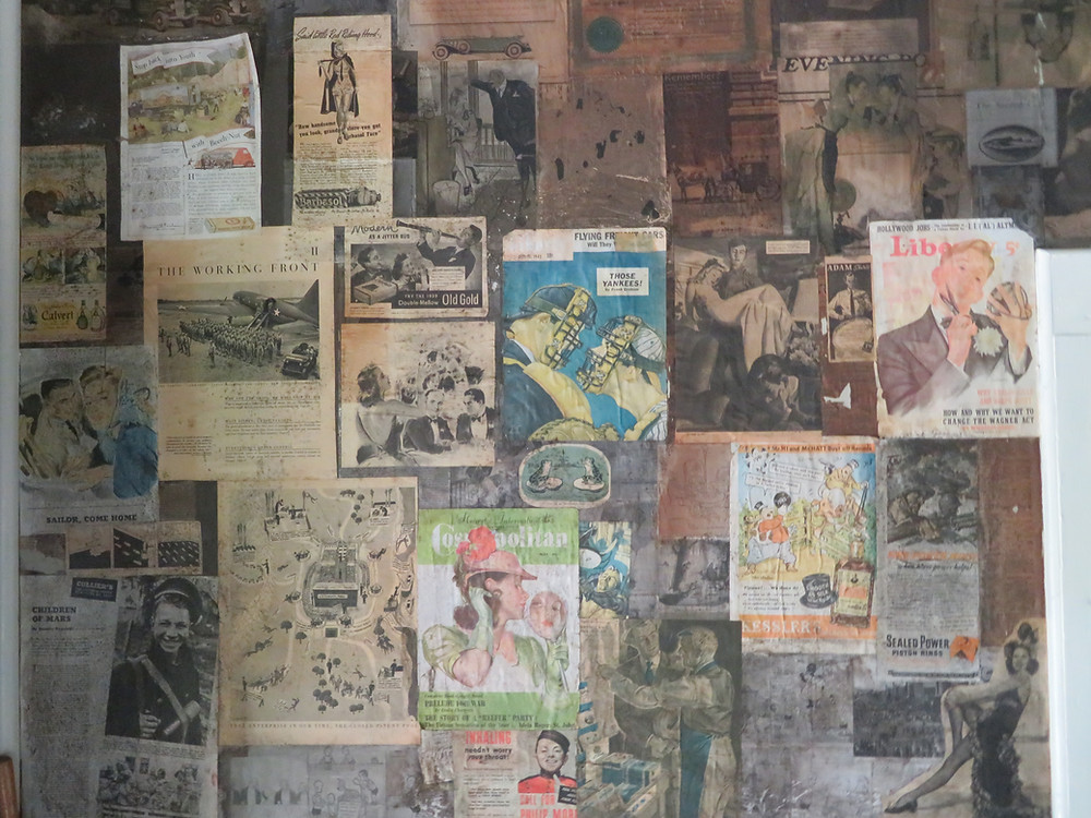 Wallpaper in the Winter House unchanged from the 1930s