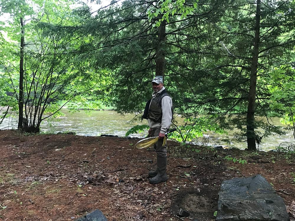 Eddie at the upper Boquet River.