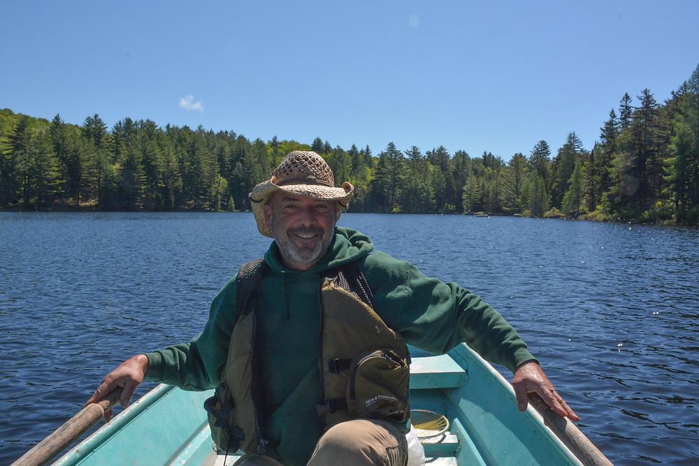 Eddie, my grizzled Adirondack guide.