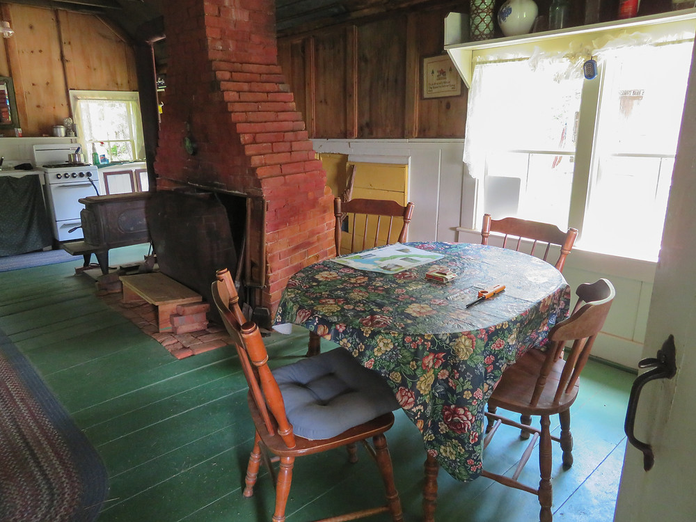 Table and kitchen in the Winter House