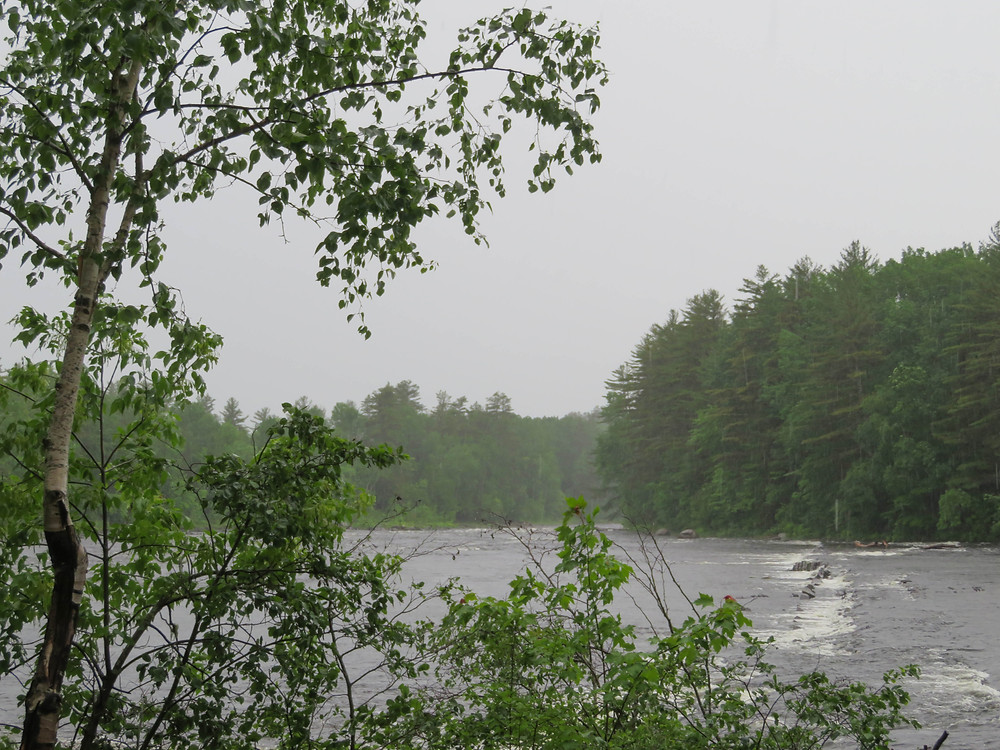 Thunderstorm at Grindstone Falls on East Branch of the Penobscot River