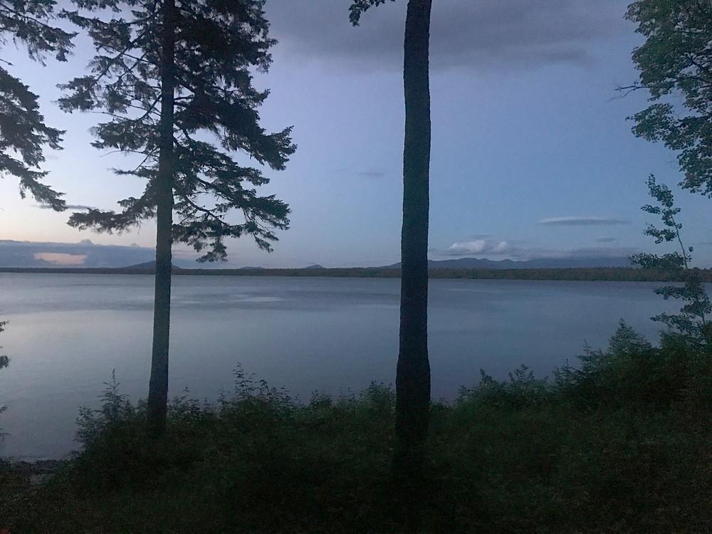 View across Caribou Lake to Mt. Katahdin.