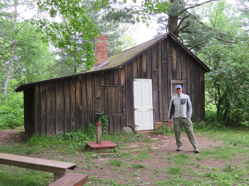 DVW in front of Leopold's Shack at his Sand County Farm