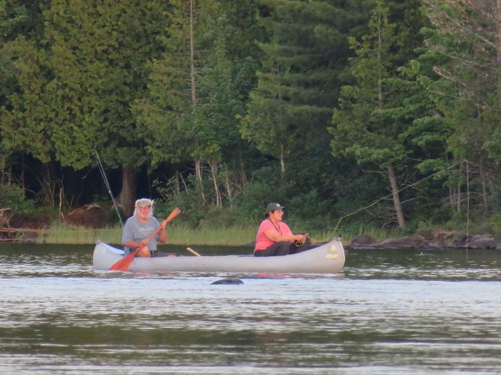 Aldro & Ginny fish Pond In The River