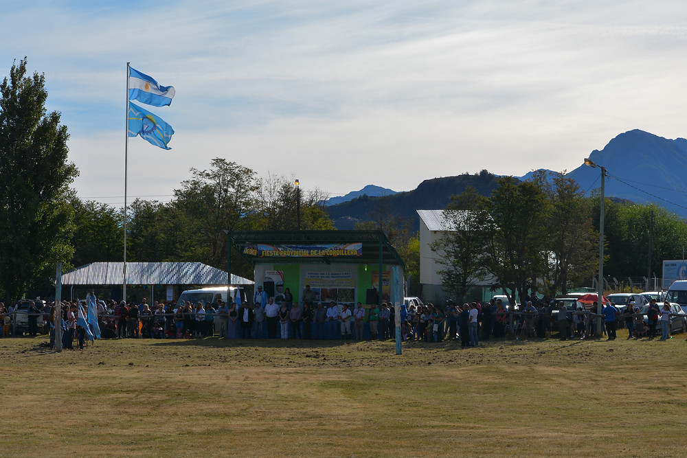Opening ceremony for XXI Fiesta Provincial de la Cordillera
