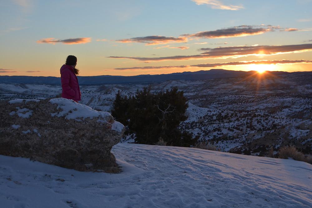 Sunset from The Hogback near Boulder, UT