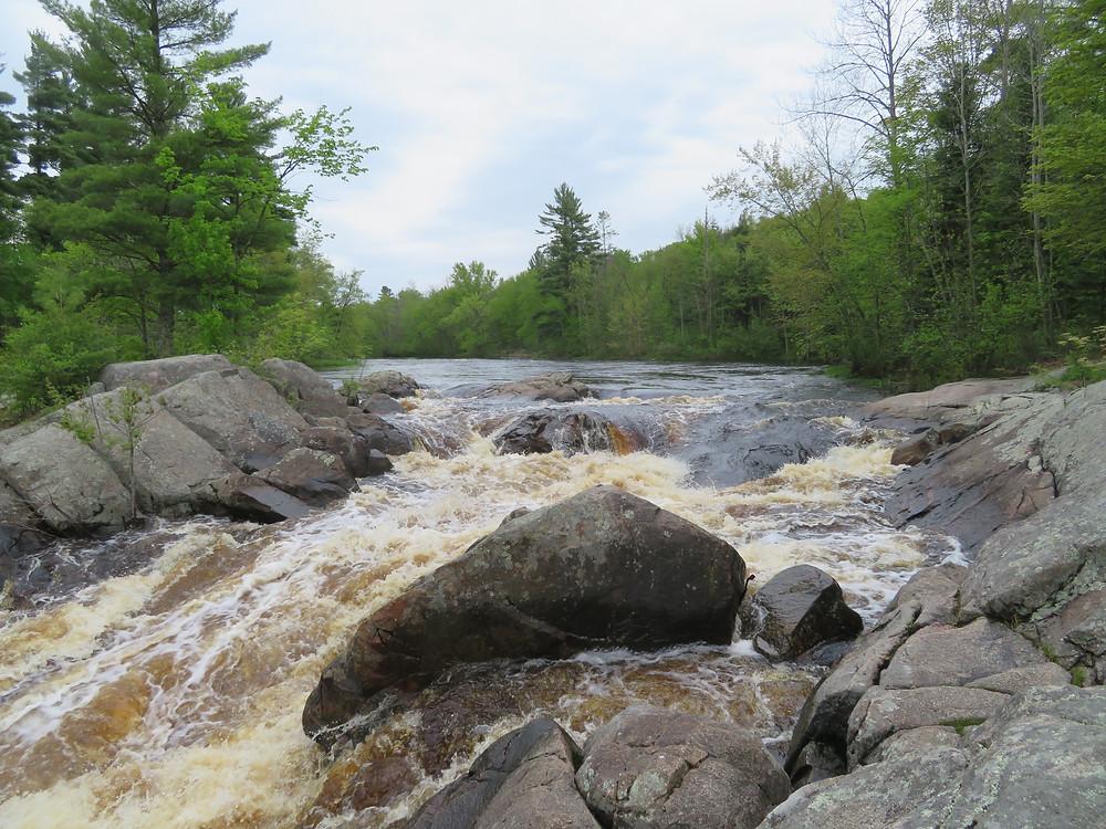 Little Falls looking toward Slough Gundy
