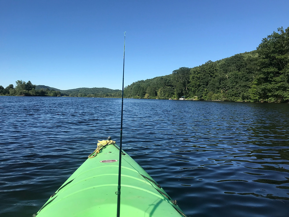 My first paddle on the Connecticut River.