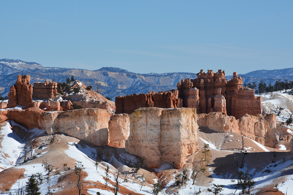 A might sandstone fortress in Bryce Canyon.