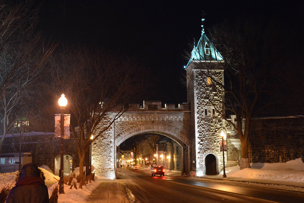 One of the gates into Vieux-Quebec.