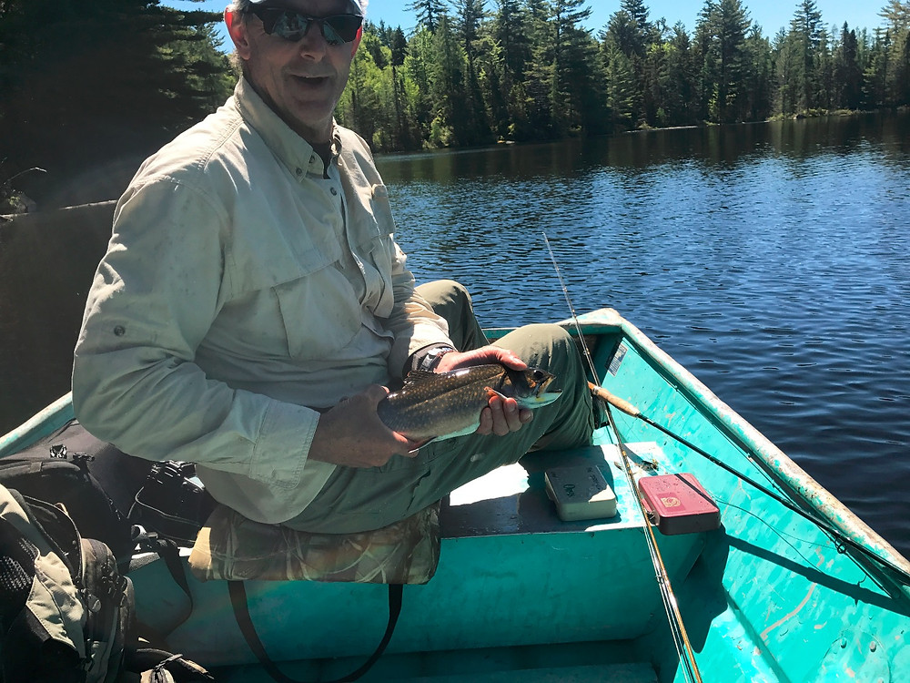 A sizeable brook trout from a secret Adirondack pond.