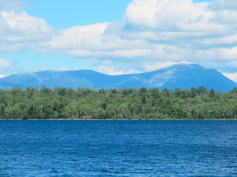 Mt. Katahdin from Caribou Lake.