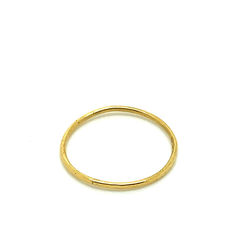 24 CT Gold plated sterling silver super-fine hammered stacking ring