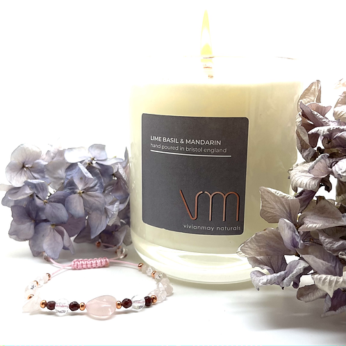 'Love yourself' giftset - bracelet and candle