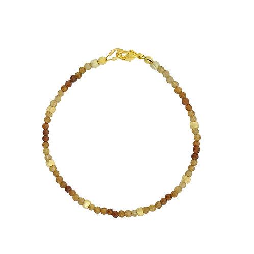 'Dainty' stacking bracelet - hessonite garnet