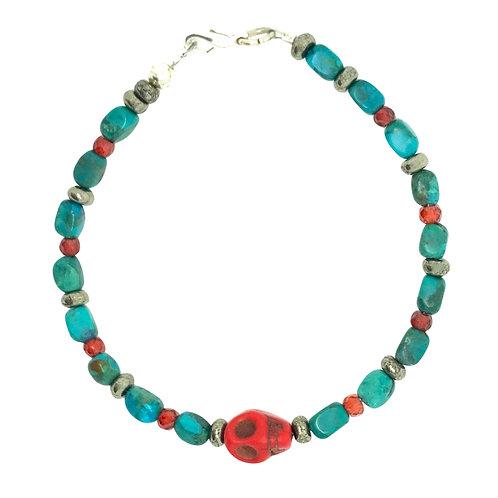 'Skull' stacking bracelet - turquoise