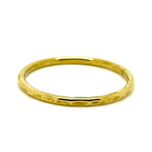 24 CT Gold plated sterling silver hammered stacking ring
