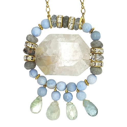 'Alice' pendant necklace - agate