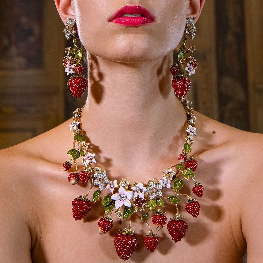 D&G Strawberry Jewellery Set