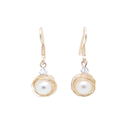 'Little Oyster' earrings - pearl