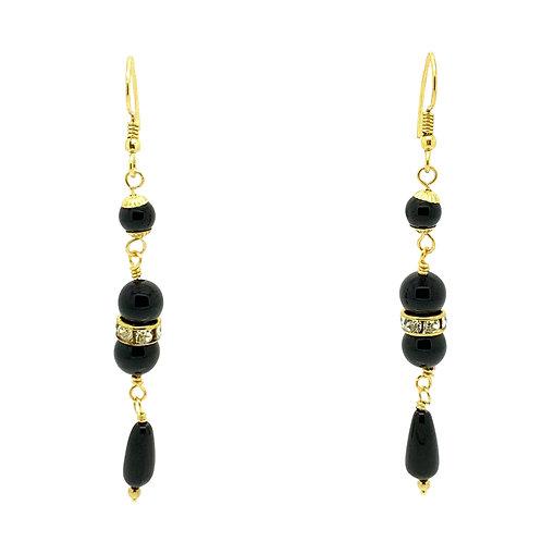 'Gatsby' earrings - onyx