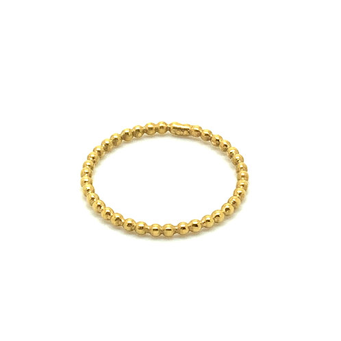 24 CT Gold plated sterling silver beaded stacking ring