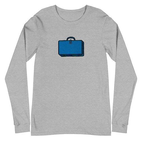 Unisex Long Sleeve Tee, Blue Bag