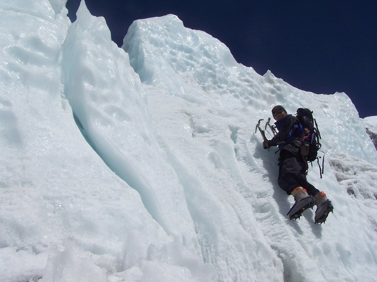 Ice climbing training