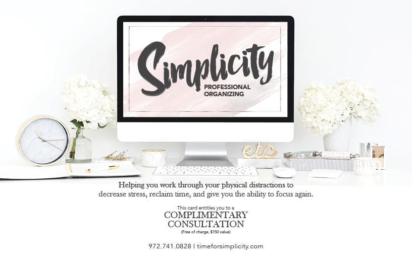 Simplicity Professional Organizing