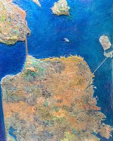 San Francisco Map - Clay and acrylic, 24