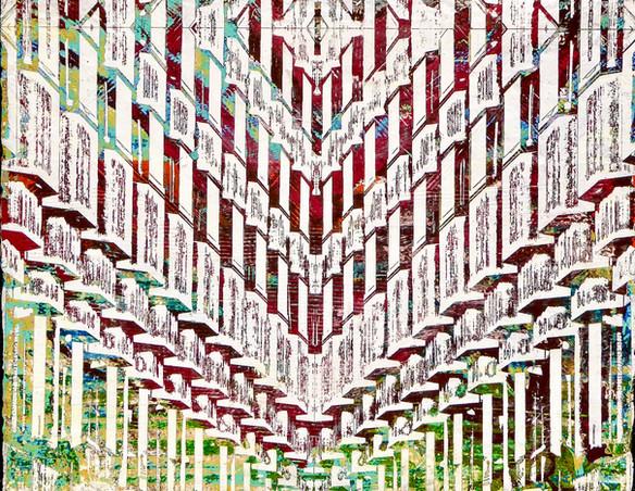 "PARC55 Hotel San Francisco - A Hilton Hotel, 2017 - Clay and acrylic, 16"" x 20"" inches"
