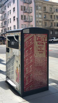 Bigbelly Trash Bin in the Tenderloin, San Francisco - 2020